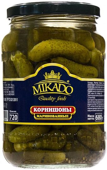 Pickled cornichons