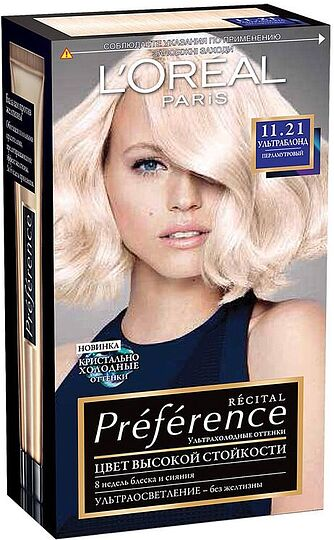 Մազի ներկ «L'Oreal Paris Preference» №11.21