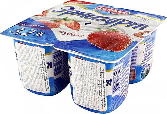 Yogurt with strawberry